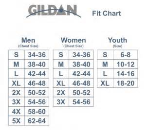 Gildan unisex sizing chart for Gildan t shirt size chart