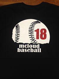 Half Baseball with number