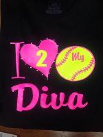 I Heart Softball Diva