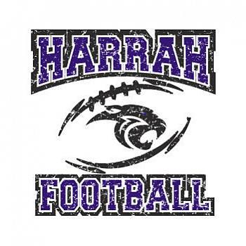 DISTRESSED HARRAH FOOTBALL