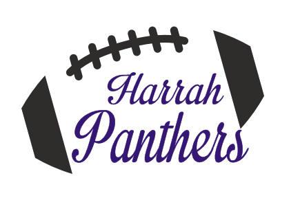 HARRAH PANTHERS FOOTBALL W/ FOOTBALL