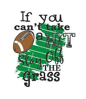 IF YOU CAN'T TAKE A HIT STAY OFF THE GRASS