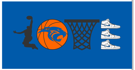 LOVE SYMBOLS BASKETBALL