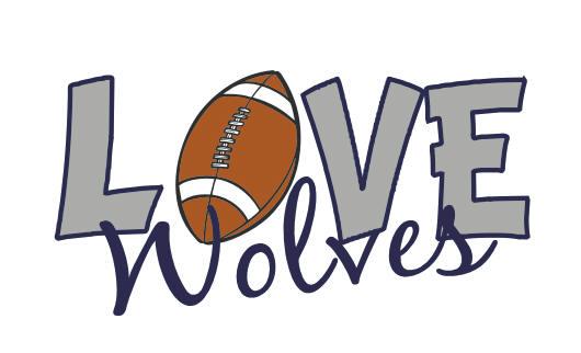 LOVE WOLVES FOOTBALL