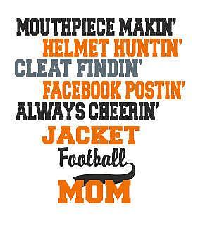 FOOTBALL MOM MOUTHPIECE MAKIN'
