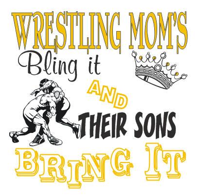 WRESTLING MOMS BLING IT