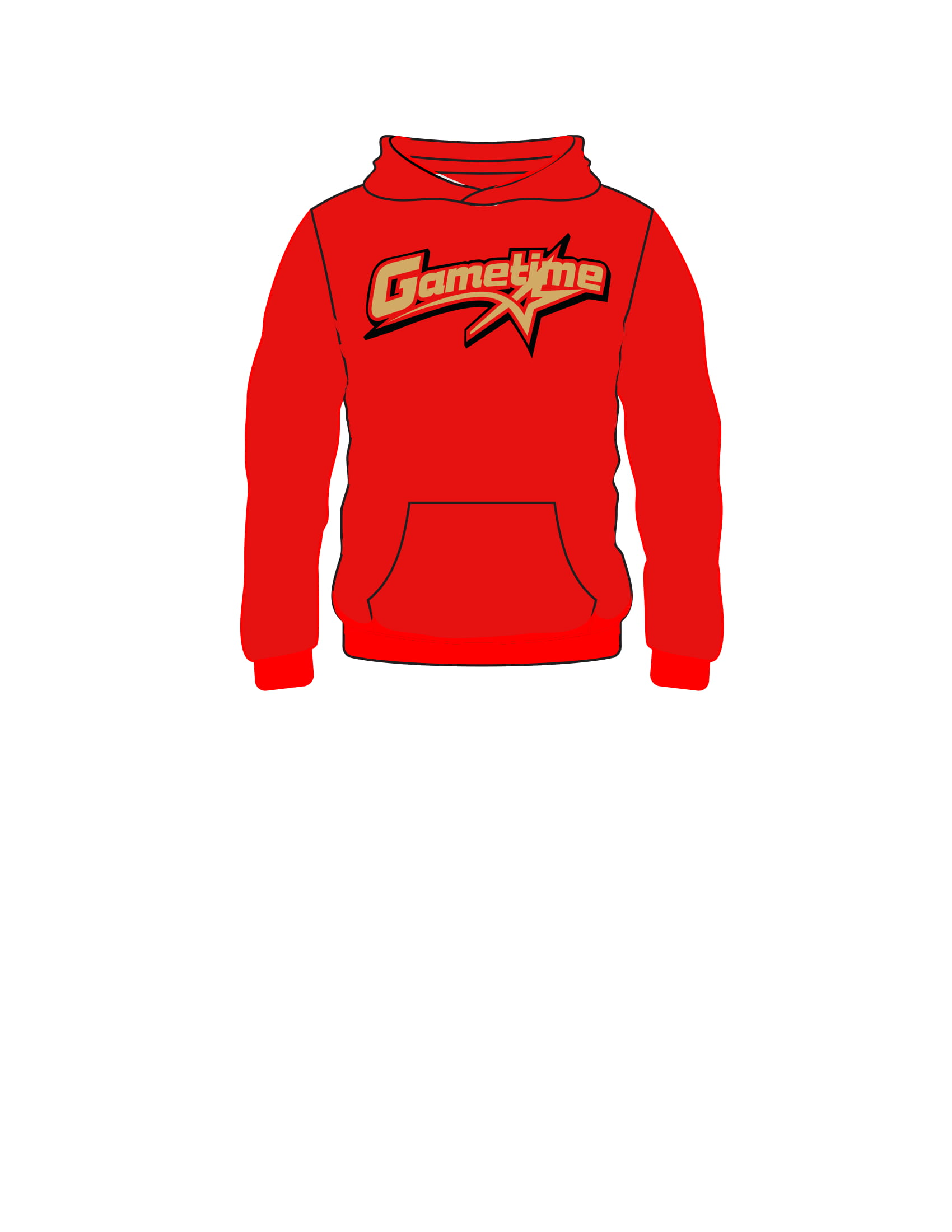 GAMETIME hooded sweatshirt