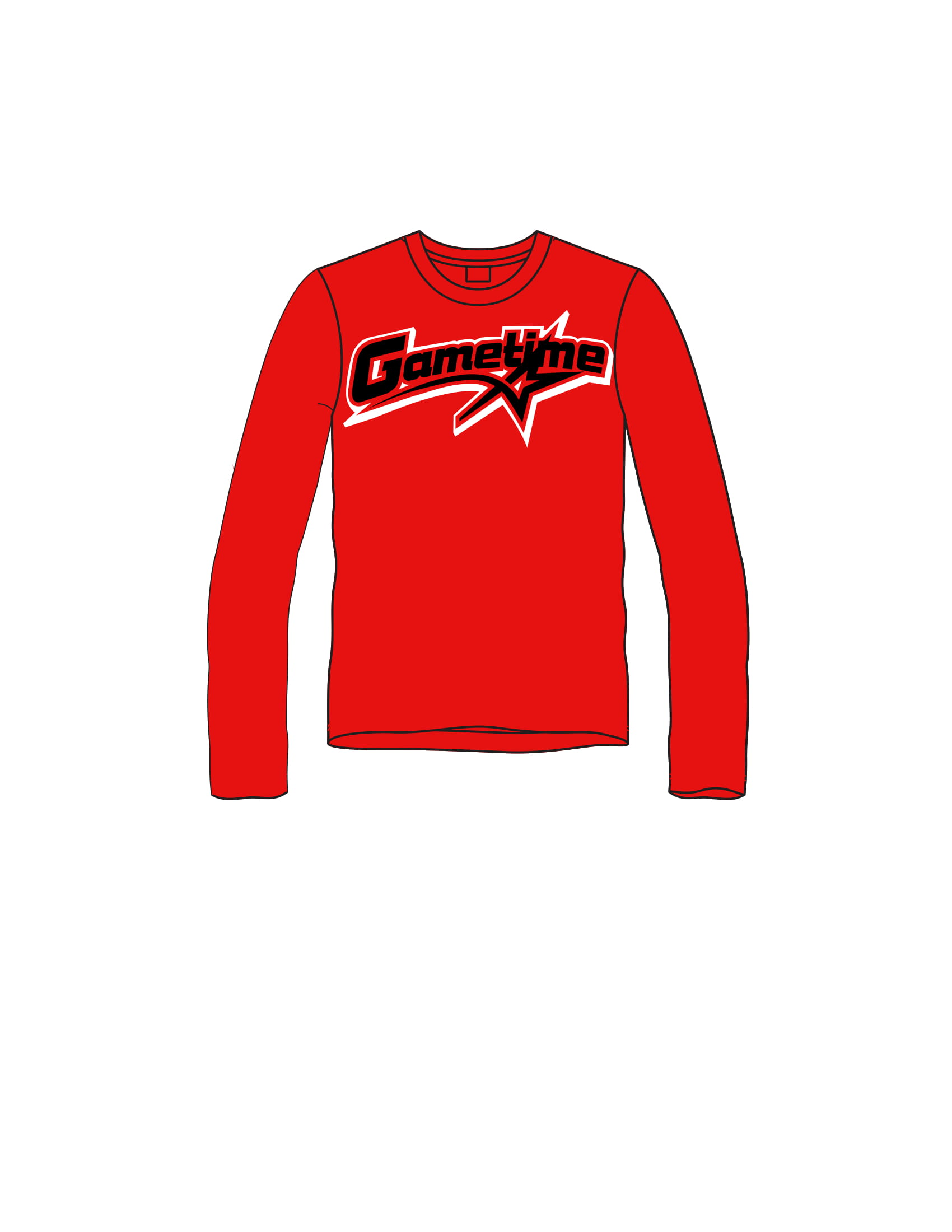 GAMETIME long sleeve tee
