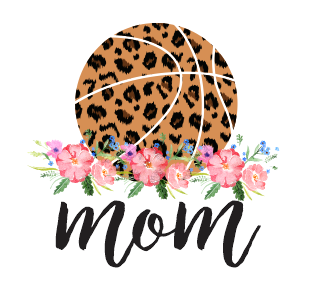 LEOPARD BASKETBALL WITH FLORAL