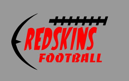 REDSKINS FOOTBALL SLANTED